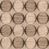 Modelo abstracto de la burbuja - textura de madera arruinada del surco del roble ilustración del vector