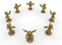 Modelo abstracto de la circular de los ángeles stock de ilustración