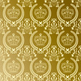 Modelo abstracto de la corona del oro ilustración del vector