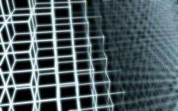 Modelo abstracto de la forma de los bordes de los cubos Fotos de archivo libres de regalías