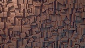 Modelo abstracto de la superficie de la arcilla representación 3d Fotografía de archivo libre de regalías