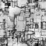 Modelo abstracto de la tecnolog Foto de archivo libre de regalías