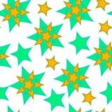 Modelo abstracto de las estrellas, curva, fondo inconsútil del vector Fotografía de archivo
