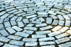 Modelo abstracto de las pavimentadoras del jardín Fotografía de archivo