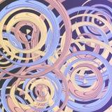 Modelo abstracto de los círculos de color, ejemplo del círculo para su diseño o impresión en el cartel o la pared ilustración del vector