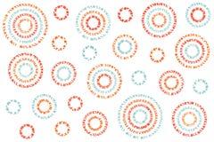 Modelo abstracto de los círculos de la acuarela fotografía de archivo libre de regalías