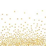 Modelo abstracto de puntos de oro que caen al azar Foto de archivo libre de regalías