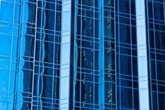 Modelo abstracto del acero y del vidrio Foto de archivo libre de regalías