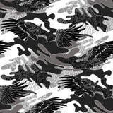 Modelo abstracto del camuflaje stock de ilustración