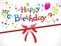 Modelo abstracto del feliz cumpleaños libre illustration