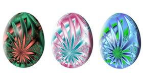Modelo abstracto del fractal Huevo de Pascua Ilustración Foto de archivo