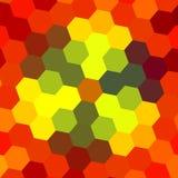 Modelo abstracto del hexágono - fondo anaranjado Imagen de archivo libre de regalías