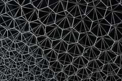 Modelo abstracto del metal bajo la forma de construcción inoxidable Fotografía de archivo libre de regalías
