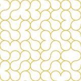 Modelo abstracto del oro del esquema del círculo ilustración del vector