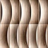 Modelo abstracto del revestimiento de madera - decoración de las ondas, surco arruinado del roble libre illustration