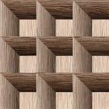 Modelo abstracto del revestimiento de madera - fondo inconsútil - surco arruinado del roble libre illustration
