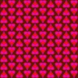 Modelo abstracto del rosa y corazones y rayas brillantes rojos stock de ilustración