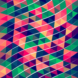 Modelo abstracto del triángulo del pixel Fotos de archivo
