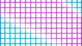 Modelo abstracto del wireframe del disco con el vjloop móvil de los colores stock de ilustración