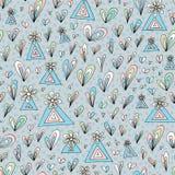 Modelo abstracto dibujado mano Fondo inconsútil colorido floral del vector Foto de archivo libre de regalías