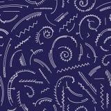 Modelo abstracto dibujado mano Vector el fondo inconsútil para el papel pintado, envolviendo, diseño de la materia textil, textur Imagen de archivo