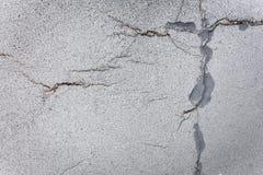 Modelo abstracto en el asfalto quebrado de la acera, impresión sacra Fotografía de archivo libre de regalías