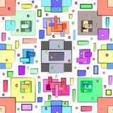 Modelo abstracto en estilo geométrico Ejemplo con las figuras geométricas ilustración del vector