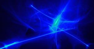 Modelo abstracto en partículas de las curvas del azul y de las Líneas Verdes stock de ilustración