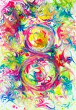 Modelo abstracto en un fondo colorido foto de archivo