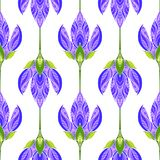 Modelo abstracto floral inconsútil Impresión colorida integrada por flores púrpuras coloreadas Fondo brillante del verano Imagenes de archivo