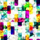 Modelo abstracto geométrico del color en estilo de la pintada ejemplo del vector de la calidad para su diseño Fotos de archivo