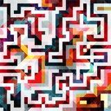 Modelo abstracto geométrico del color en estilo de la pintada ejemplo del vector de la calidad para su diseño Imagen de archivo libre de regalías