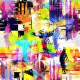 Modelo abstracto geométrico del color en estilo de la pintada ejemplo del vector de la calidad para su diseño Imagenes de archivo