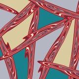 Modelo abstracto geométrico del color en estilo de la pintada ejemplo del vector de la calidad para su diseño Imágenes de archivo libres de regalías