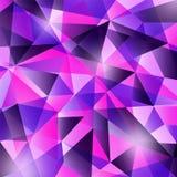 Modelo abstracto geométrico moderno colorido en colores violetas púrpuras brillantes de moda Diseño azul marino rosado hermoso Fotos de archivo libres de regalías