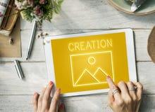 Modelo abstracto Graphic Concept de la inspiración de la creación Fotos de archivo libres de regalías
