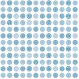 Modelo abstracto inconsútil azul con formas redondas Fotografía de archivo