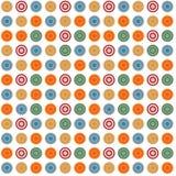 Modelo abstracto inconsútil colorido con formas redondas Fotografía de archivo