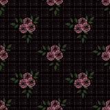 Modelo abstracto inconsútil con el fondo de la textura del ornamento de las flores Imagen de archivo