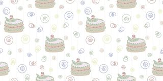 Modelo abstracto inconsútil con la torta stock de ilustración