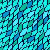 Modelo abstracto inconsútil con los pétalos coloridos Ejemplo del vector con las hojas stock de ilustración