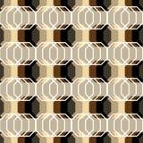 Modelo abstracto inconsútil con los polígonos Foto de archivo