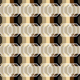 Modelo abstracto inconsútil con los polígonos Stock de ilustración