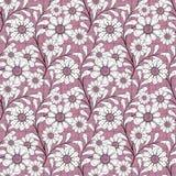 Modelo abstracto inconsútil con textura del ornamento de las flores en fondo rosado Fotos de archivo libres de regalías