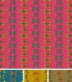 Modelo abstracto inconsútil. Conjunto de cuatro, marrón azul rosado Foto de archivo