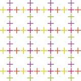 Modelo abstracto inconsútil creado de la repetición de los símbolos del signo más stock de ilustración
