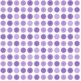 Modelo abstracto inconsútil de la lila con formas redondas Imagenes de archivo