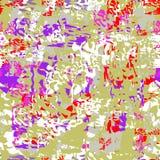 Modelo abstracto inconsútil de puntos y de líneas multicolores stock de ilustración