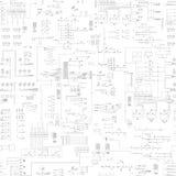 Modelo abstracto inconsútil del esquema Fotografía de archivo