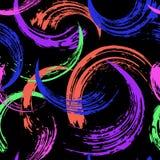 Modelo abstracto inconsútil del fondo, con los movimientos de la pintura y SPL stock de ilustración